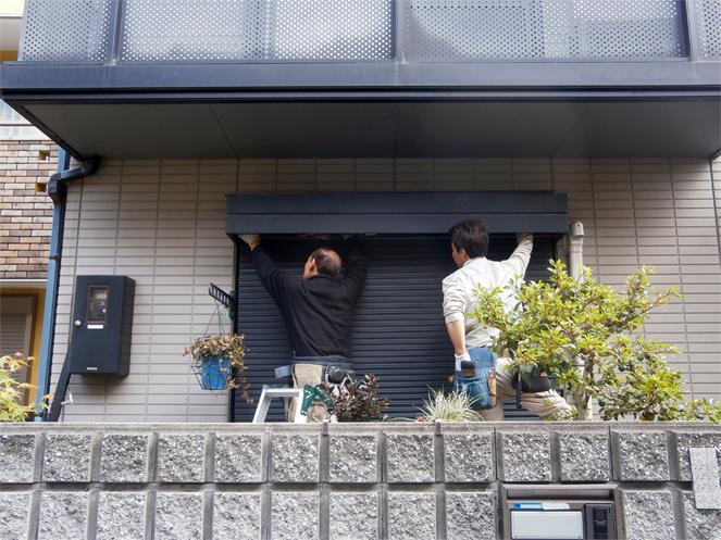 サン・ウインド:シャッター電動化工事 施工事例 大阪府豊中市 O様邸