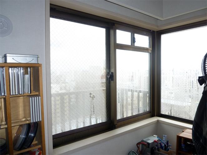 サン・ウインド内窓(インプラス)導入事例:大阪市城東区コーナー窓施工前