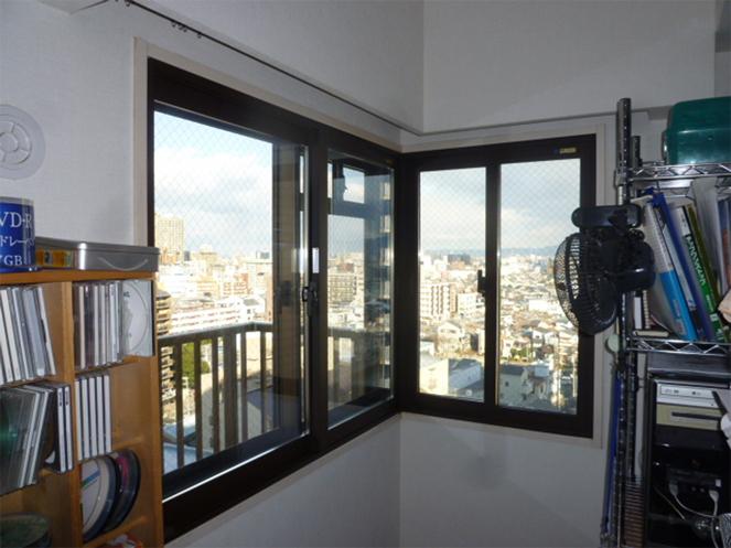 サン・ウインド内窓(インプラス)導入事例:大阪市城東区施工後