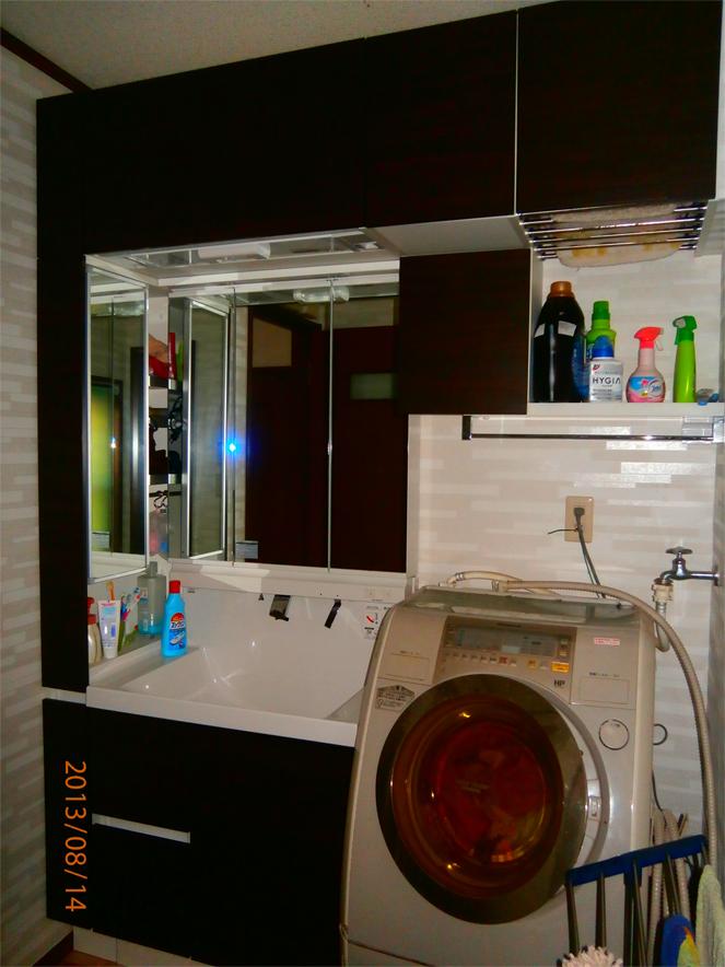 サン・ウインドのリフォーム導入事例:八幡市 F様邸洗面台ユニットリフォーム後