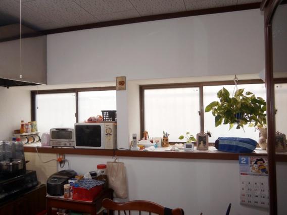 サン・ウインド導入事例:八幡市N様邸ダイニング真空ガラススペーシア施工後