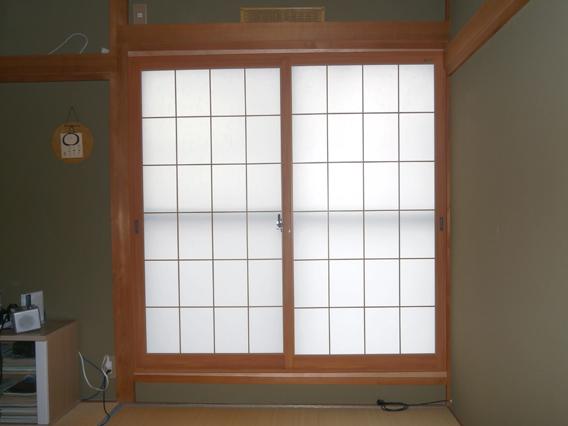 サン・ウインド導入事例:八幡市N様邸和室内窓インプラス施工後