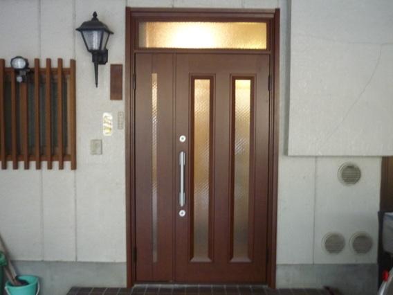 玄関ドアリフォーム京都市O様邸施工後