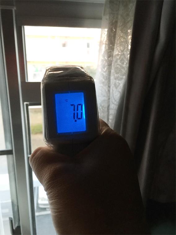エコ窓設置京都府八幡市K様邸ガラス表面温度計測