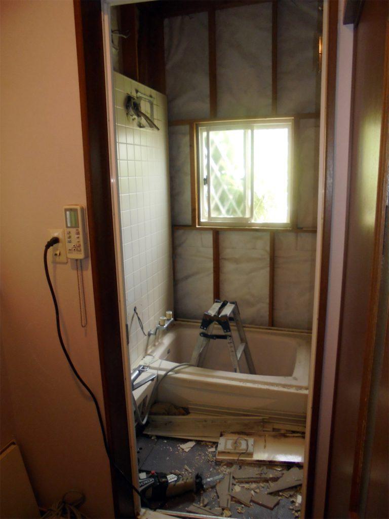 浴室リフォーム 施行中