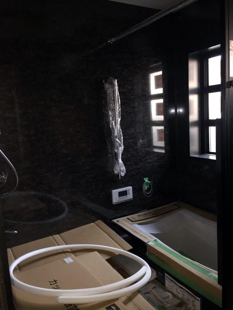 浴室リフォーム中