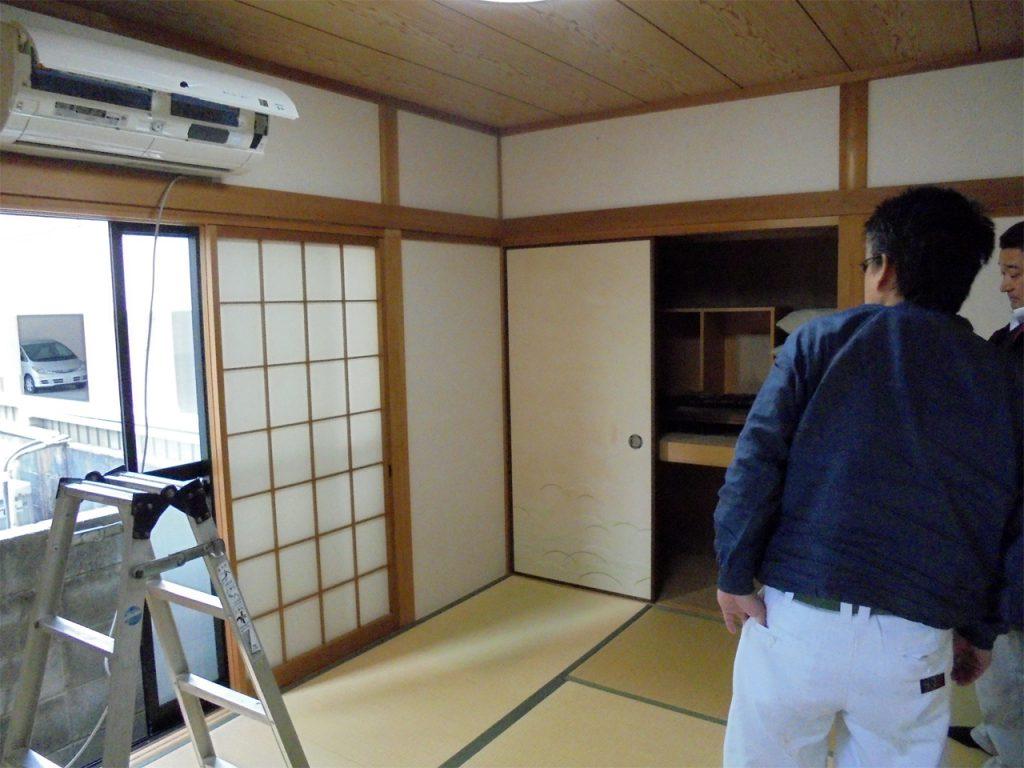 和室→洋室リフォーム 施工前