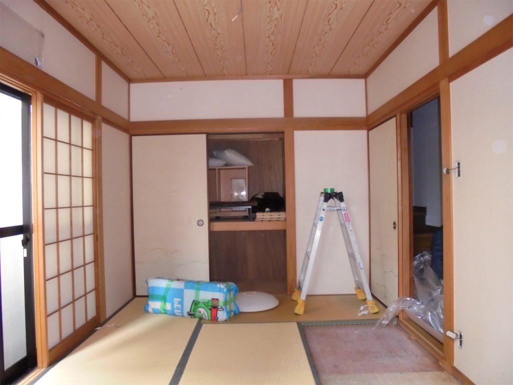 和室→洋室リフォーム 施工中