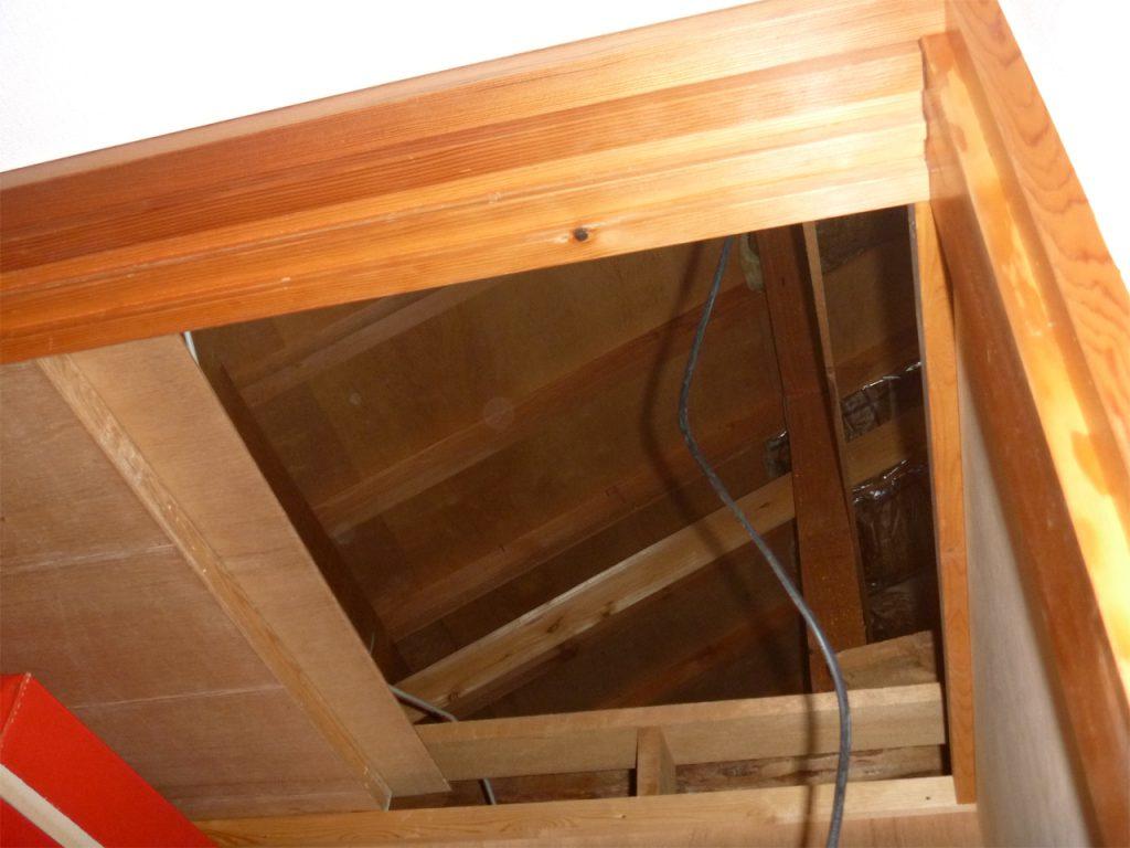 天窓設置施工中