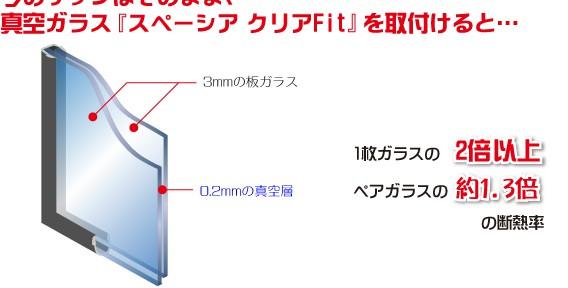 真空ガラススペーシアがよりお求めやすい価格で登場!!