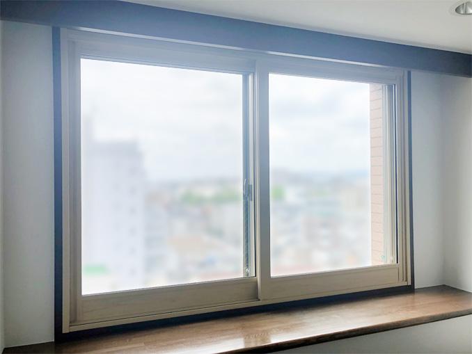 内窓プラスト&防音合わせガラス 施工後(洋室)
