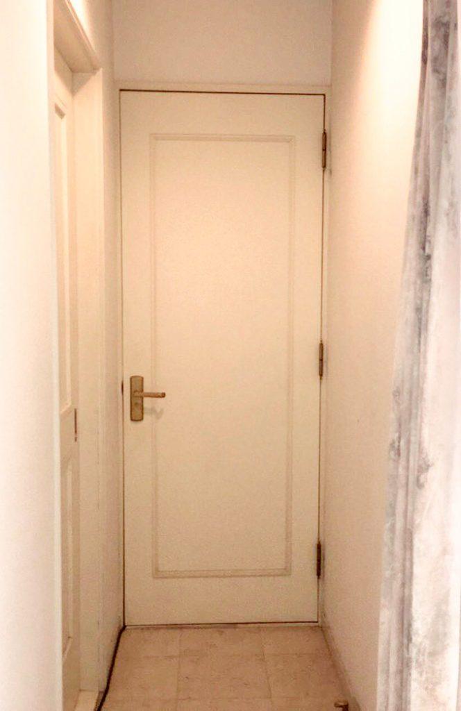 施工前の室内防音ドア