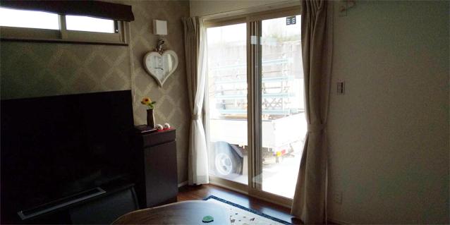内窓プラスト&防音合わせガラス 施工後(掃き出し窓)