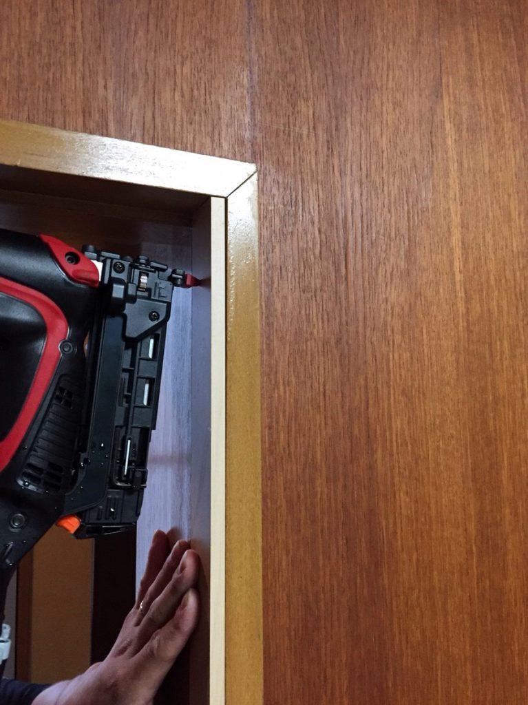 室内防音ドア 施工中