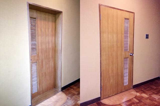 既存室内ドア(施工前)