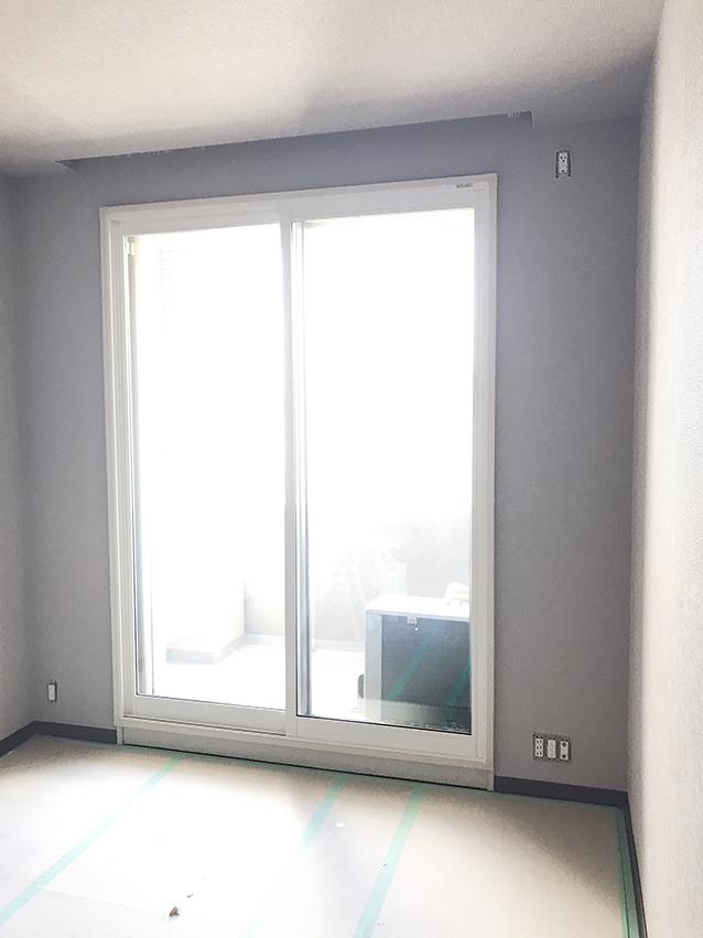 内窓プラスト&防音合わせガラス(掃き出し窓)施工後
