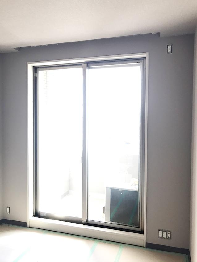 施工前の掃出し窓