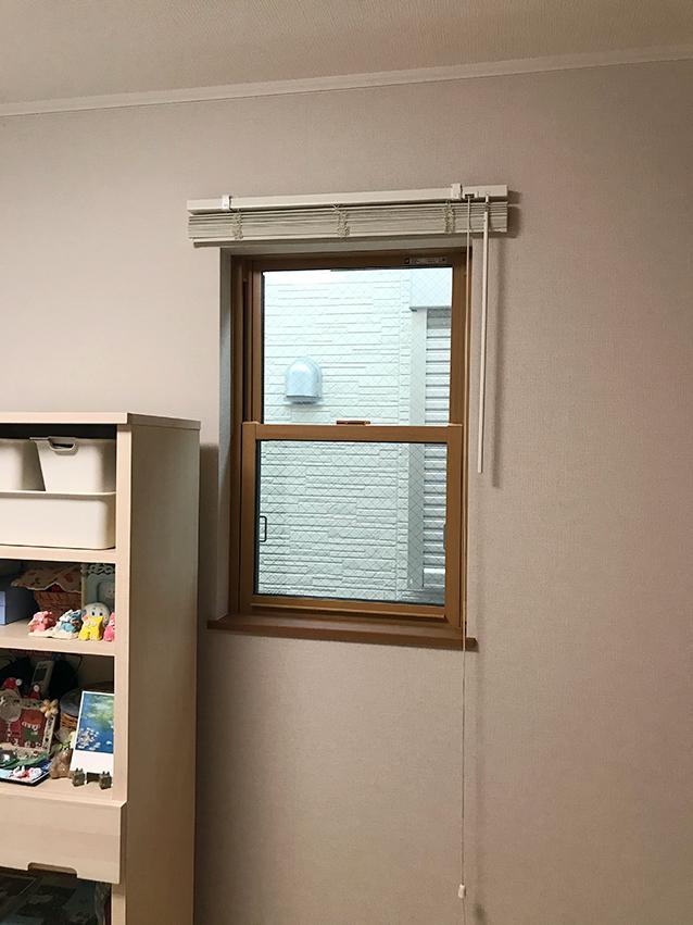 施工前の上げ下げ窓