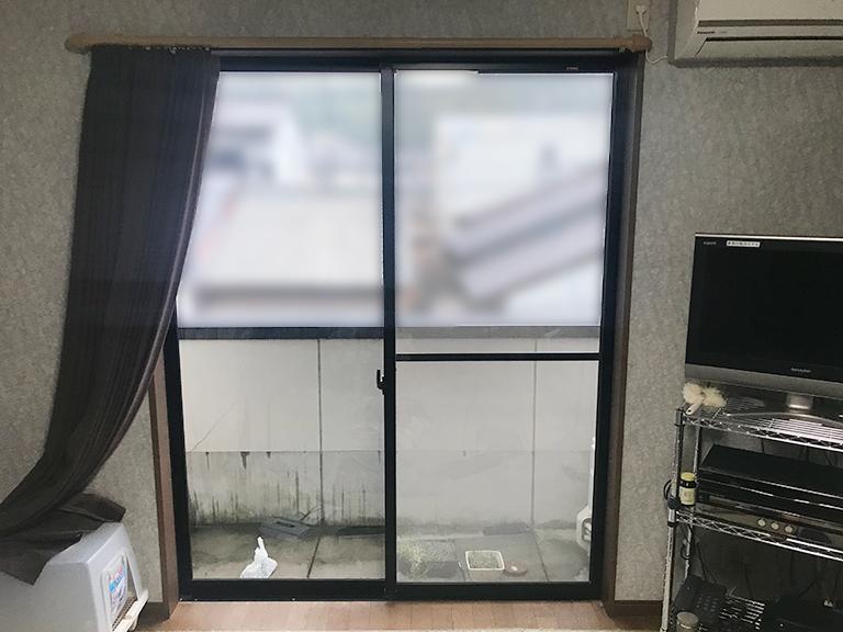 施工前の既存吐き出し窓