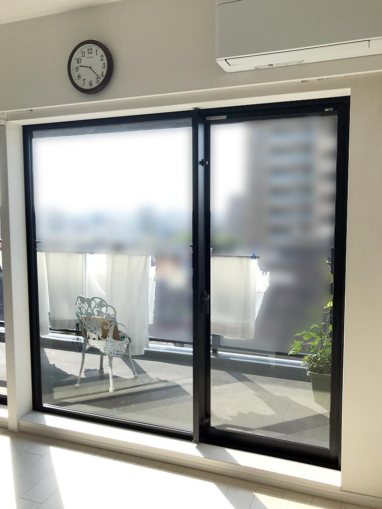 施工前の変則引き違い(掃き出し)窓