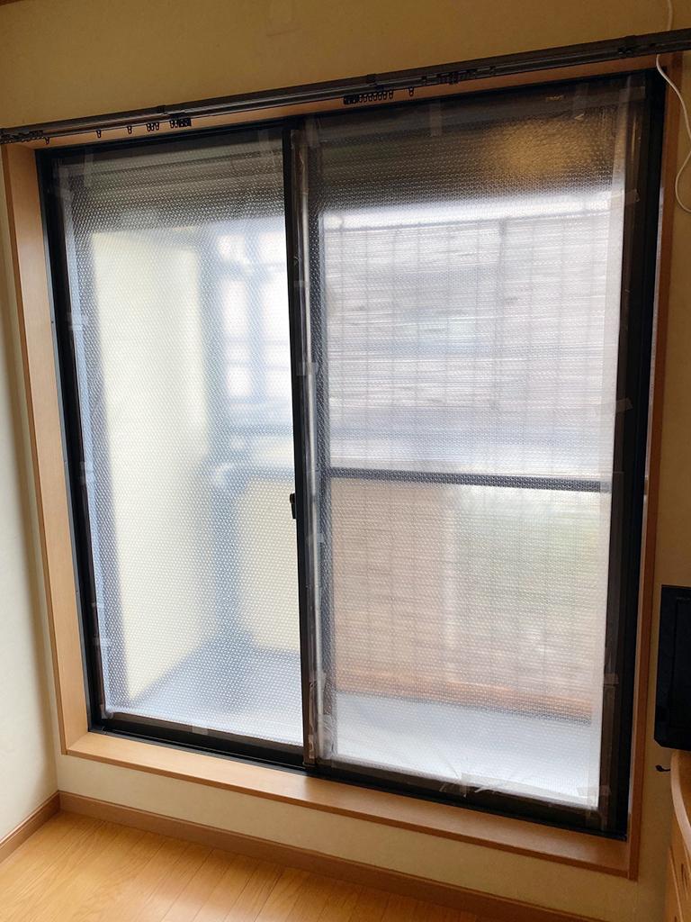 施工前の既存掃出し窓