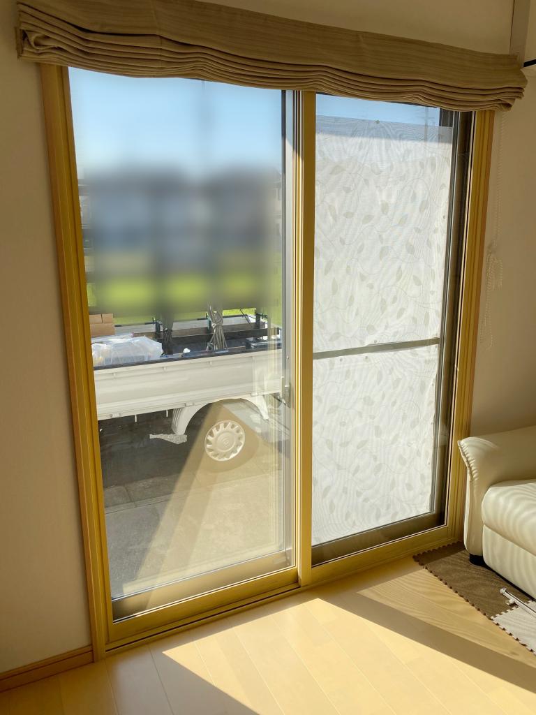 施工後の内窓プラスト(掃き出し窓)