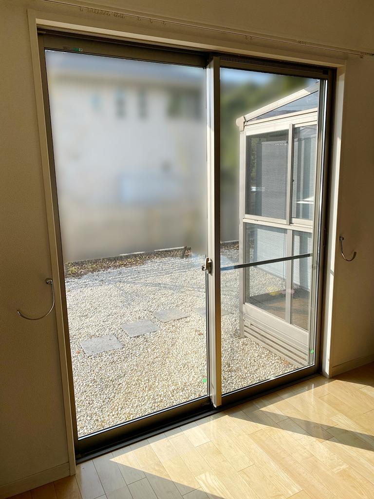 施工前の掃き出し窓