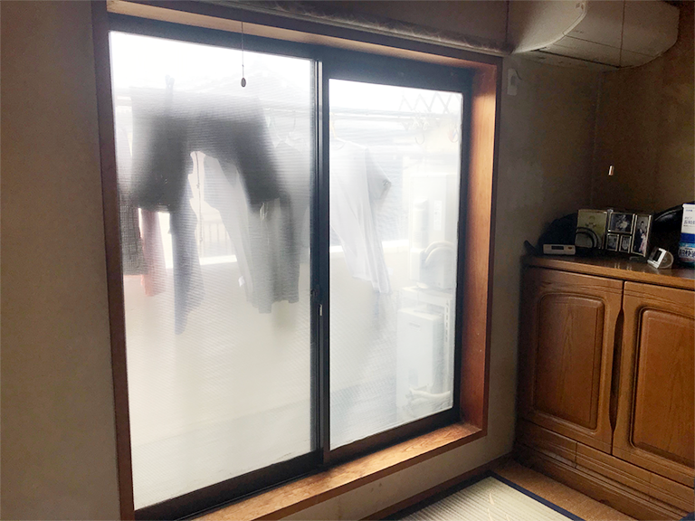 施工前の既存窓(和室)